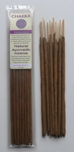 Chakra - Natural Ayurvedic Healing Incense Sticks - Sahasrara: Crown Chakra - 20 grams
